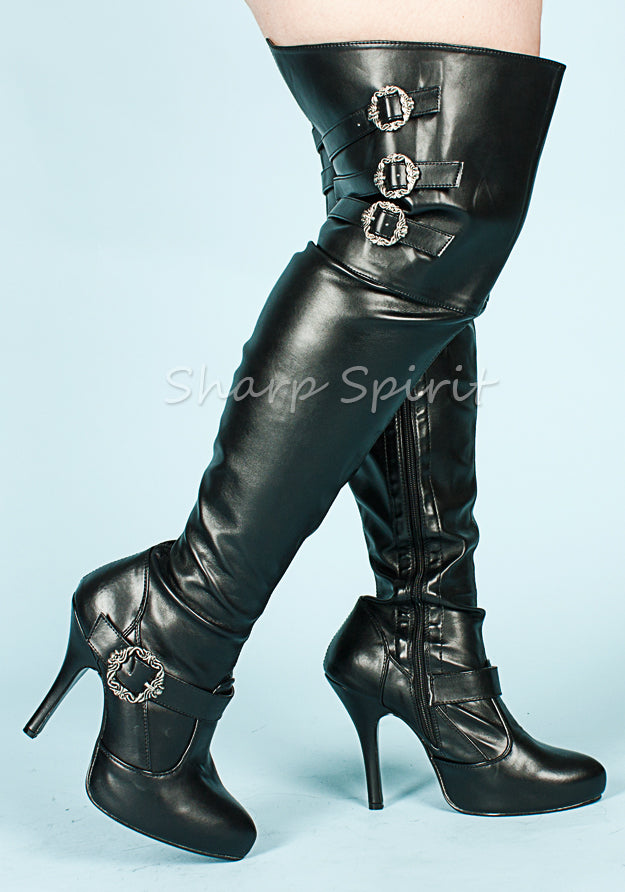 c48de87c1a9 Wide Width & Shaft Thigh High Boots