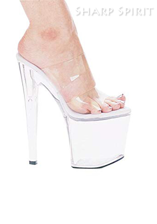 8 Heel Clear Open Toe Sandal