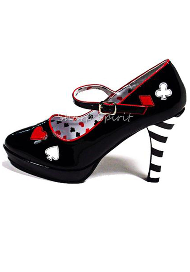 Story Book Fairytale Mary Jane Poker Heels