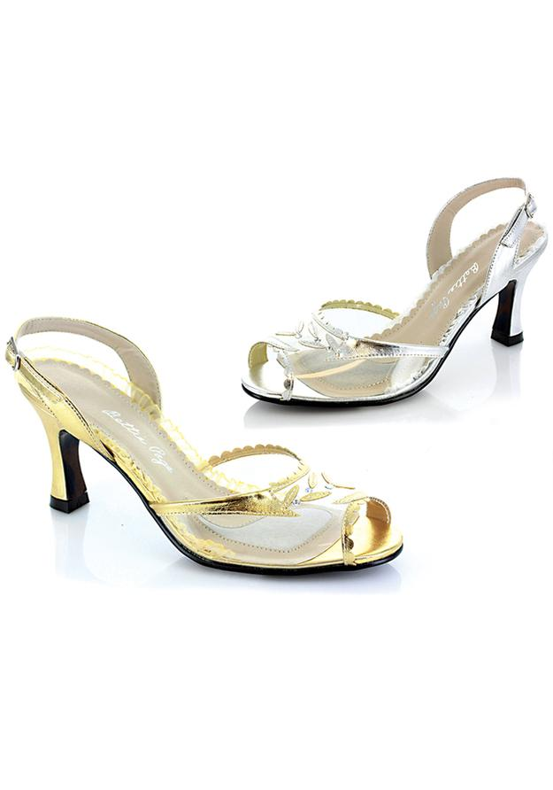 3 Clear  Peep Toe Sling Back