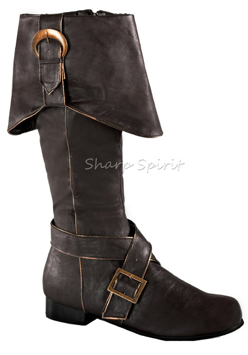 Brown Knee High Captain Sparrow Boots