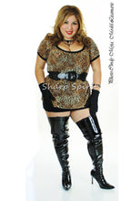 Load image into Gallery viewer, Dominatrix Black Pat Wide Boots