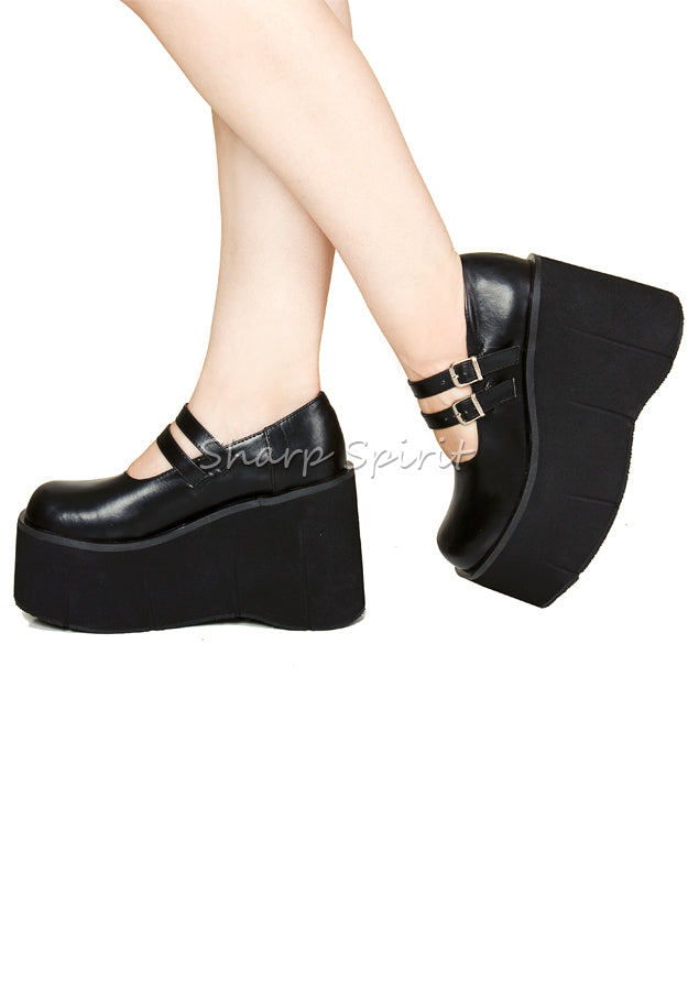 Double Strap Mary Jane Platforms