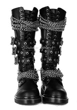 Load image into Gallery viewer, Knuckle Chain Knee High Boots