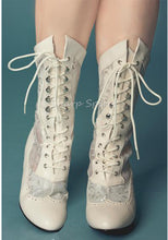 Load image into Gallery viewer, Marie Antoinette in Ivory Lace Boots