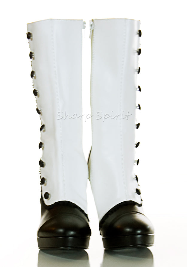 Mid-Calf Button Steampunk Boots