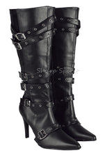 Load image into Gallery viewer, Multi Strapped Knee High Boots