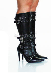 Multi Strapped Knee High Boots