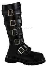 Load image into Gallery viewer, Steel Toe Black Leather Boots