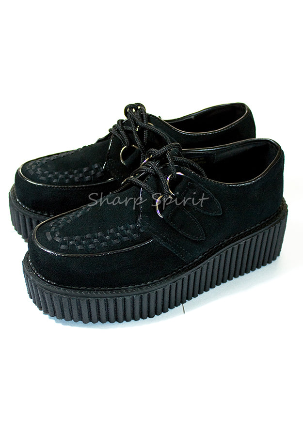 Vegan Suede Platform Creeper Shoes