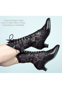 Victorian Mid-Calf Lace Boots