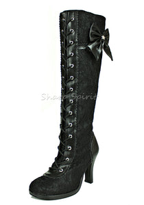 Vintage Style Victorian Lace Boots