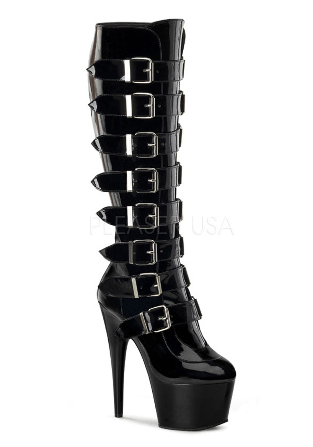 Multi Buckle Strap Fetish Boots