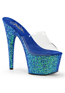 "7"" Heel, 2 3/4"" PF Slide W/Holo Glitter Bottom"