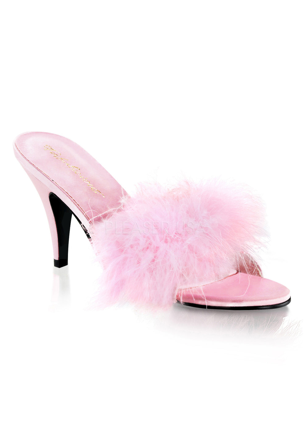 L'amour Marabou Feather Open Sandal