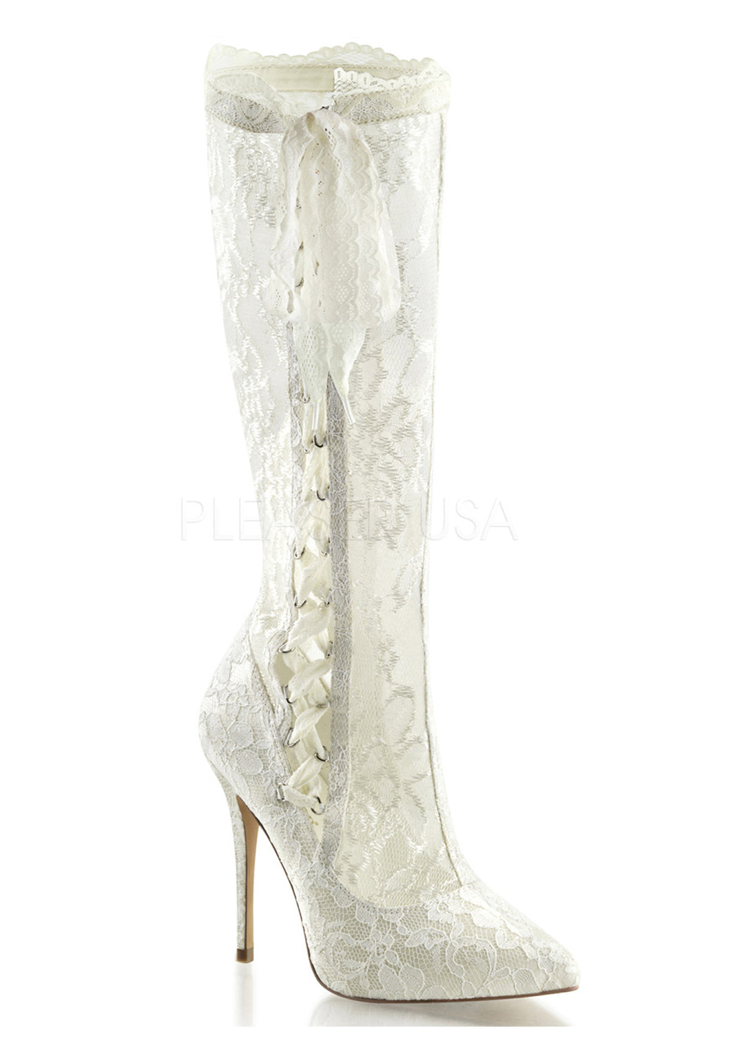 Victorian Bridal Lace Knee Boots