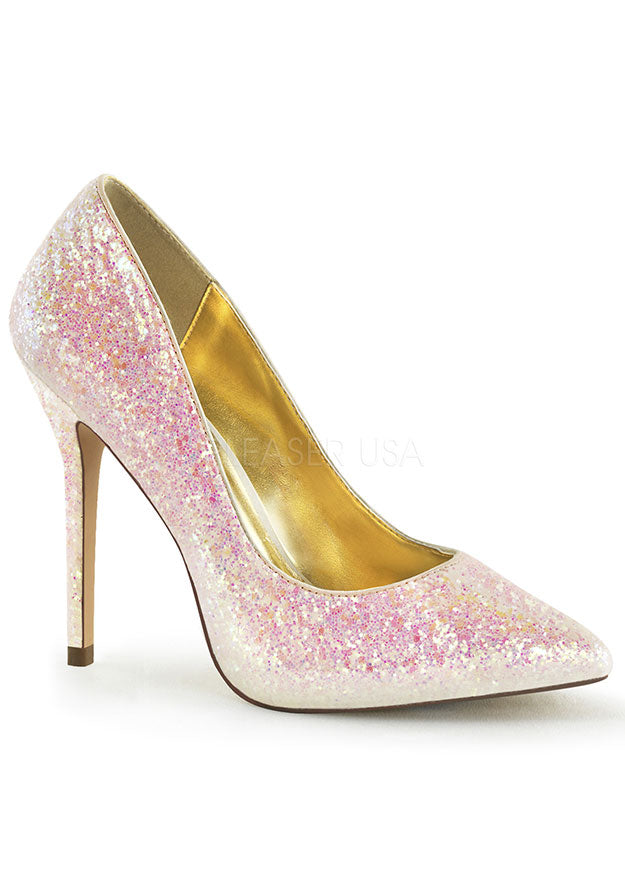 Rose Multi Glitter Pointed Heels