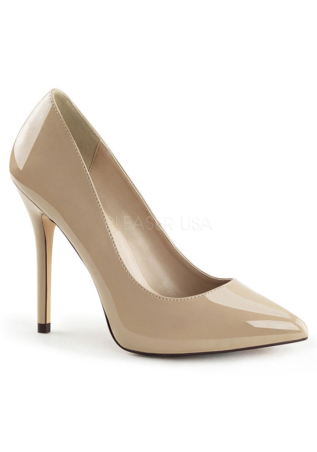 Cream Pointed Toe High Heels