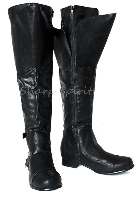 Western Cosplay Tall Mens Boots