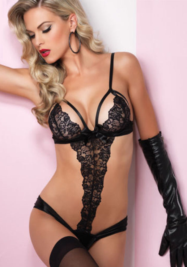 Be Naughty Scalloped Lingerie Teddy