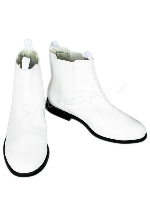 Beatle Chelsea Cosplay Comic White Ankle Boots