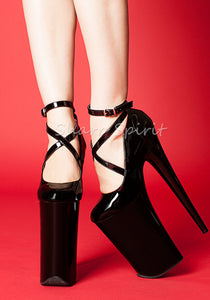 Black Ballerina Exotic High Heels