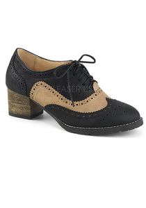 Black & tan Womens Oxfords