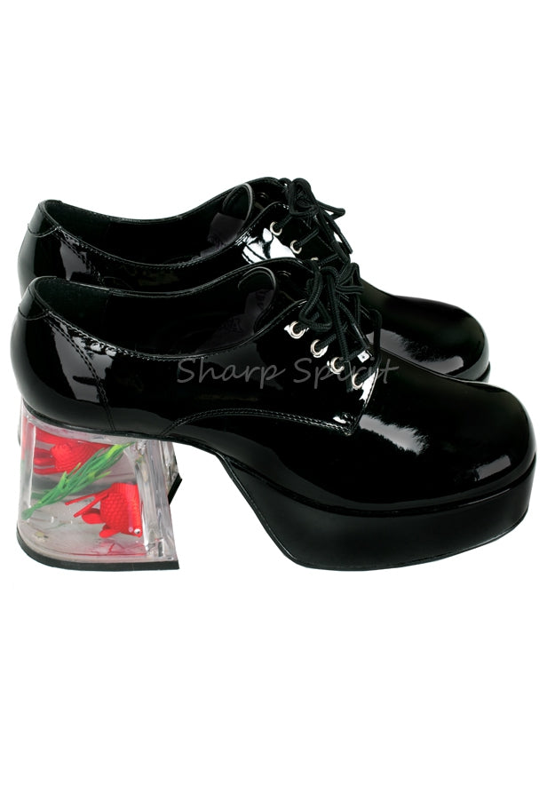 Black Floating Fish Disco Shoes
