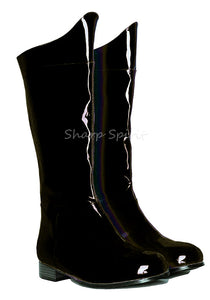 Black Pat Super Hero Boots