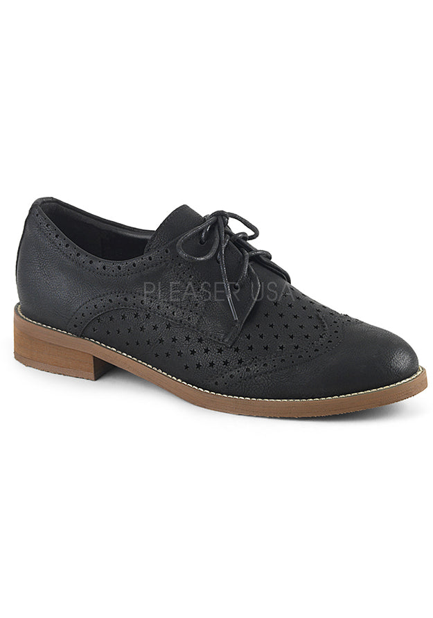 Black Wingtip Oxford Lace Up Shoes