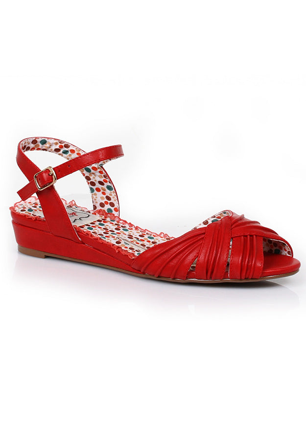 Chiquita Open Toe Ruched Sandals