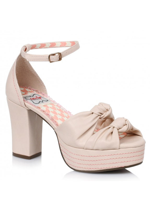 Nude Retro Sandals with Knot