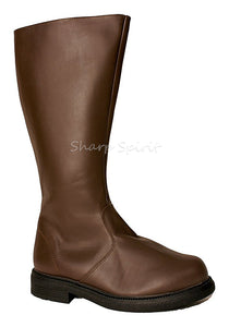 Brown Knee High Captain Boots