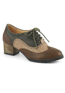 Brown Multi Oxford Spectator Shoes