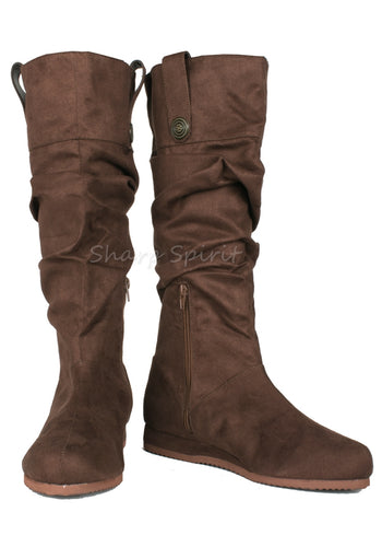 Brown Slouchy Shaft Renaissance Boots