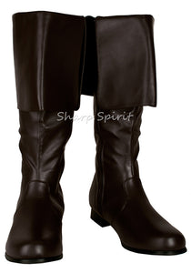 02dbb407dd2 Brown Vegan Leather Mens Pirate Boots – SharpSpirit