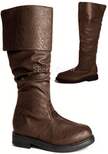 Load image into Gallery viewer, Brown Western Folded Cuff Boots