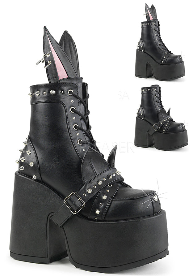 Cyber Rave Platform Ankle High Cat Boots