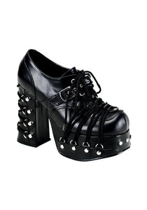 "**2"" PF Goth Punk Lolita w/ Corseted D-Ring Lace Up"