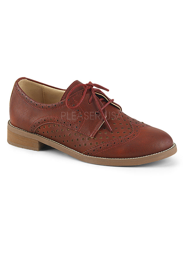 Cherry Red Womens Oxford Shoes