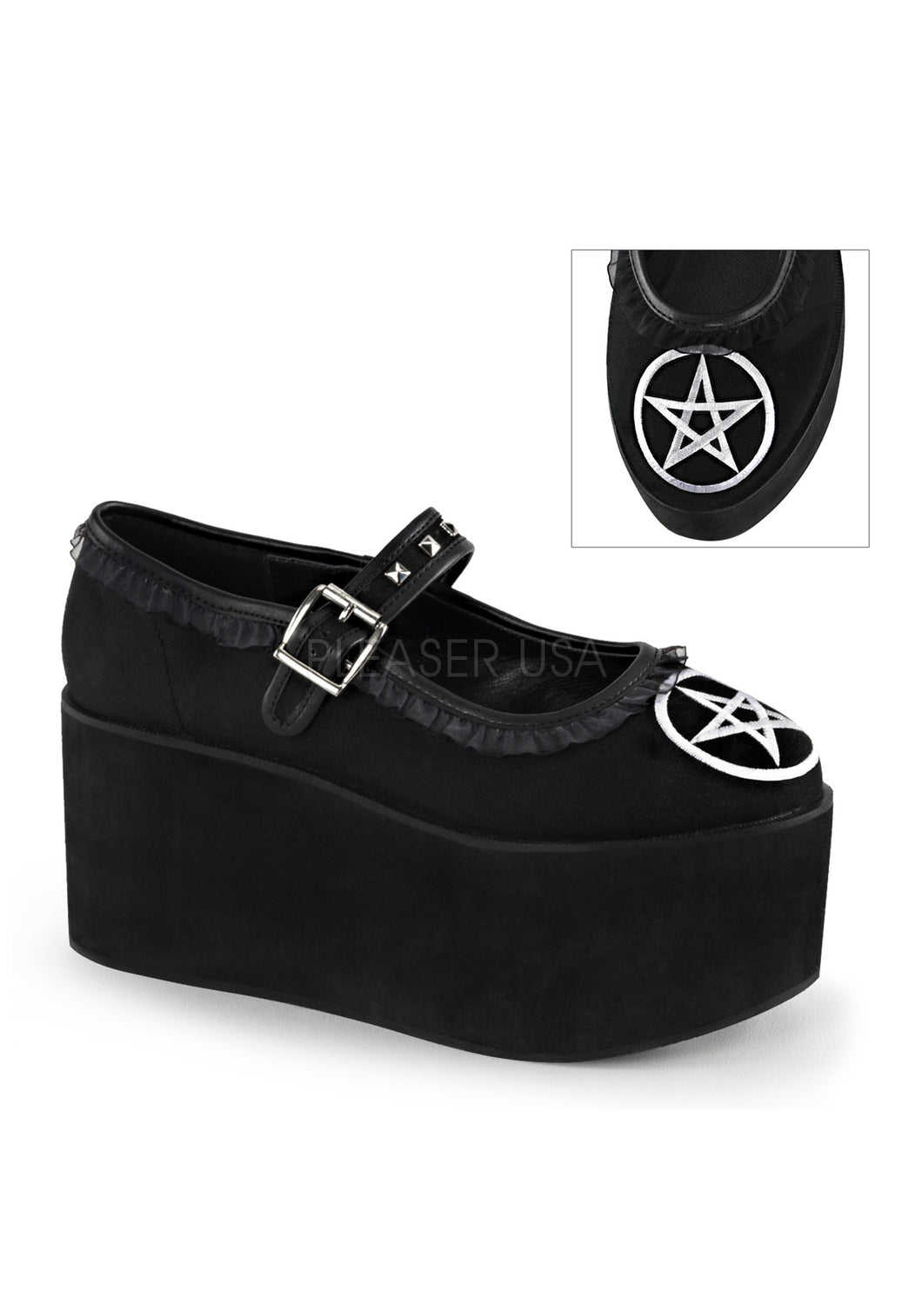 Gothic Witch Pentagram Mary Janes
