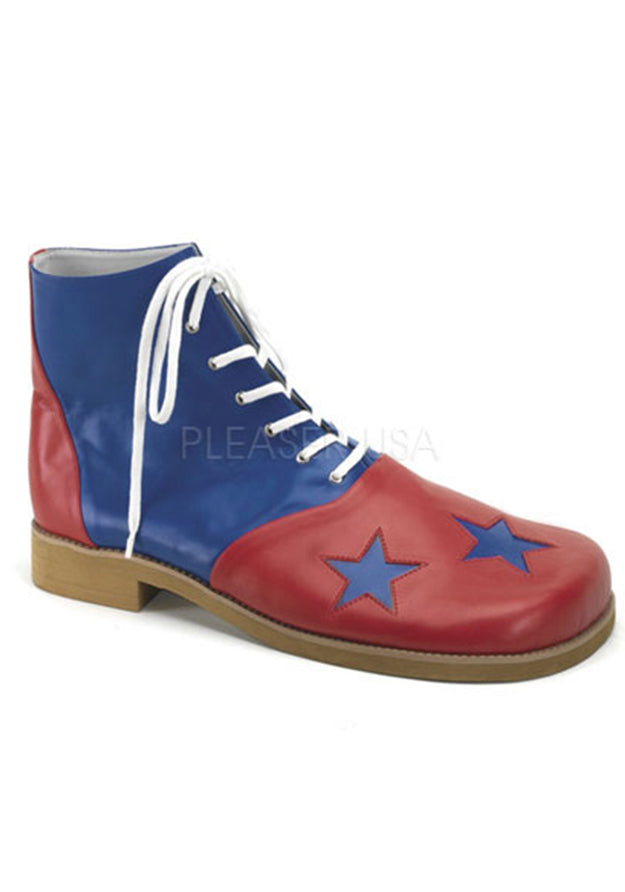 Adult Clown Red Blue Shoes