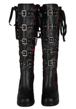 Load image into Gallery viewer, Corset Victorian Lace Up Military Combat Witch Womens Boots