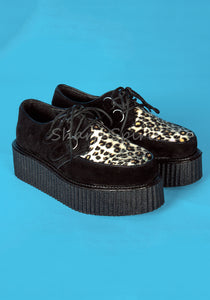 Leopard Print Rockabilly Men's Shoes