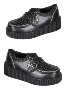 Pinstripe Platform Creeper Shoes