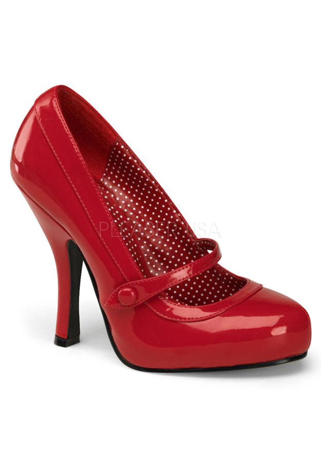 Passion Red Mary Jane Heels