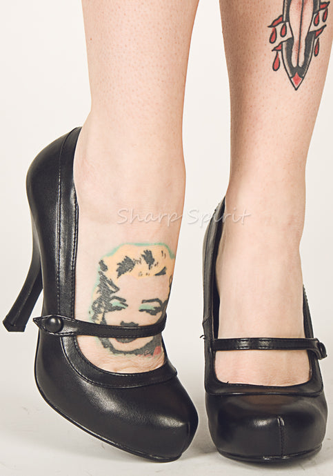Black 1940s Mary Jane Shoes