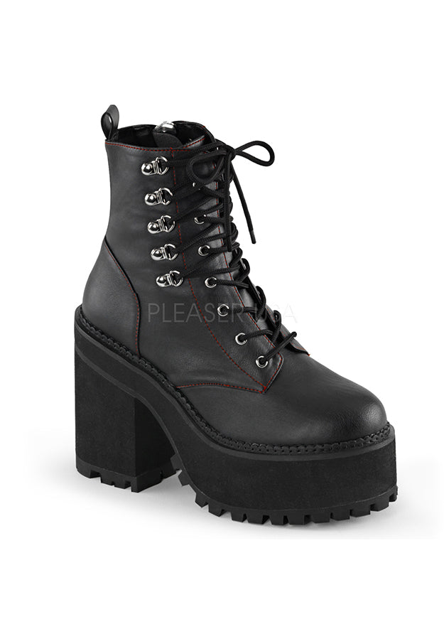 Cyber D-Ring Lace Up Platform Boots
