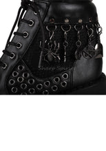 Load image into Gallery viewer, Cyber Gothic Sneaker Platform Lace Up Combat Womens Boots