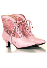 Load image into Gallery viewer, Be Empress Lace Ankle Boots